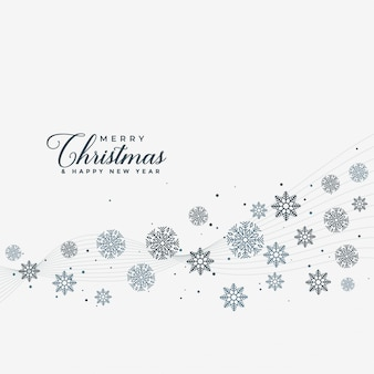 Fundo de projeto de flocos de neve feliz natal