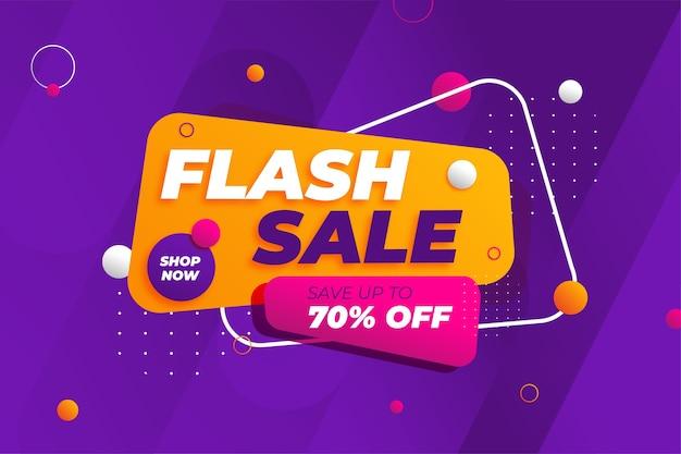Fundo de promoção de banner de desconto de venda flash