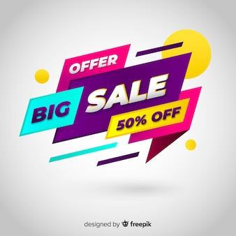 Fundo de promoção de venda plana abstrata