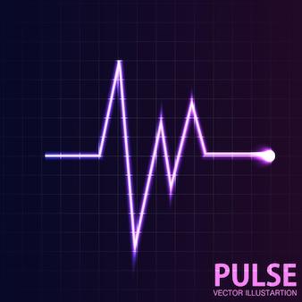 Fundo de pulso brilhante rosa de vetor