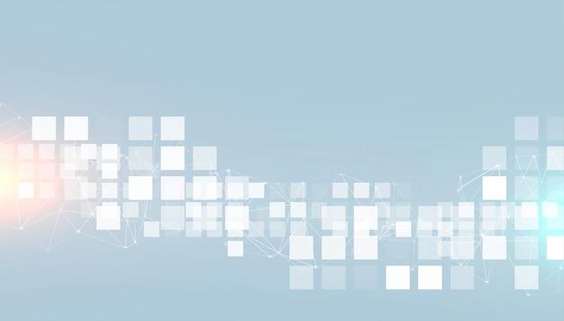 Fundo de quadrados modernos de estilo de negócios digitais