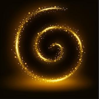 Fundo de quadro brilhante de espiral dourada