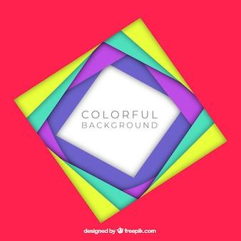 Fundo de quadro colorido e plano