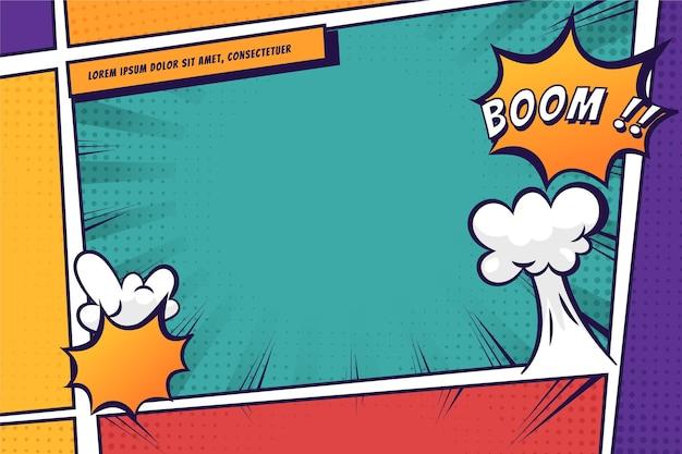 Fundo de quadro colorido em quadrinhos