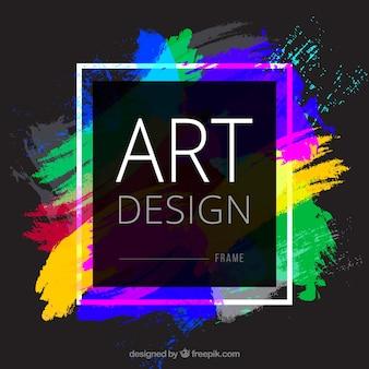 Fundo de quadro colorido
