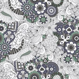 Fundo de quadro completo simétrico lindo em branco