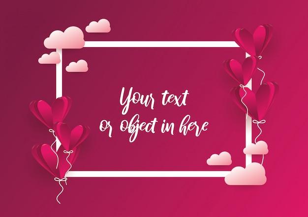 Fundo de quadro de amor e conceito de design de dia dos namorados