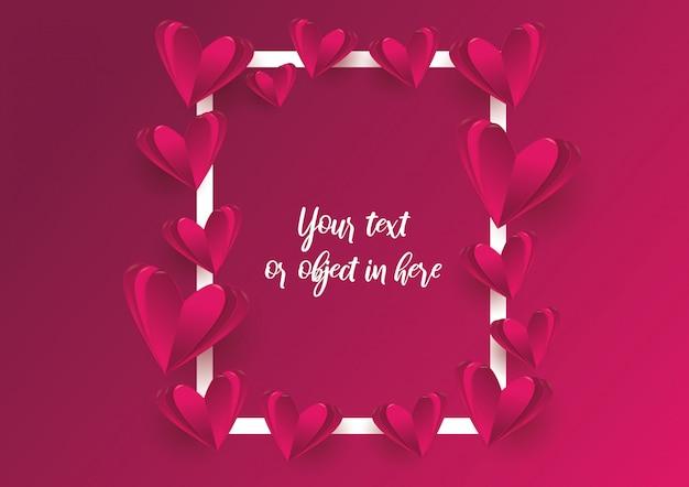 Fundo de quadro de amor e dia dos namorados