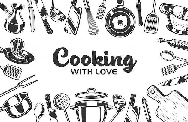 Fundo de quadro de cozinha