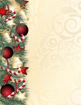 Fundo de quadro de decoração de natal