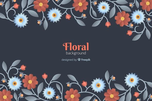 Fundo de quadro de flor plana