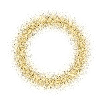Fundo de quadro de glitter dourados