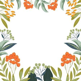 Fundo de quadro de grinalda de flores botânicas
