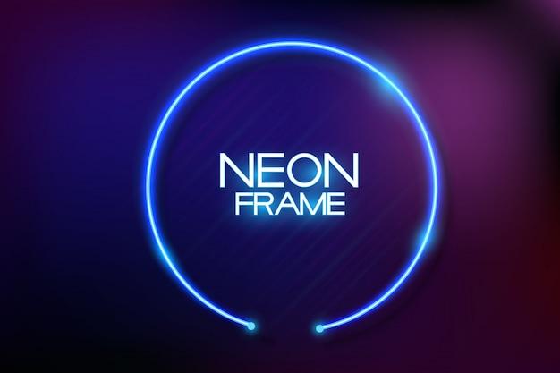 Fundo de quadro de néon