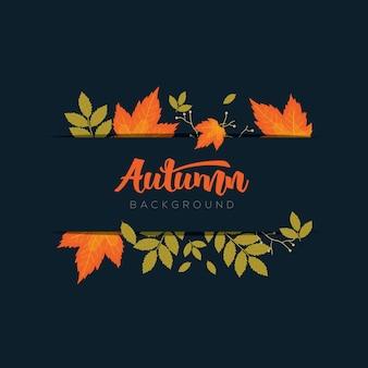 Fundo de quadro de outono com folhas coloridas