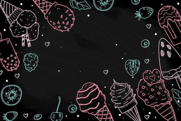 Fundo de quadro de sorvete