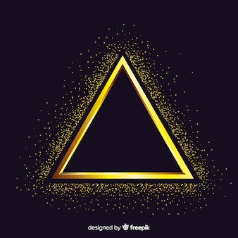 Fundo de quadro dourado cintilante triângulo