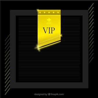 Fundo de quadro elegante com etiqueta vip dourada