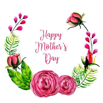 Fundo de quadro floral em aquarela dia das mães
