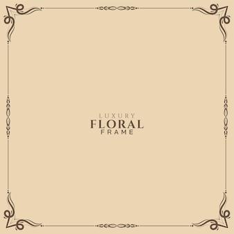 Fundo de quadro floral étnico bonito