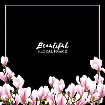 Fundo de quadro floral linda magnólia