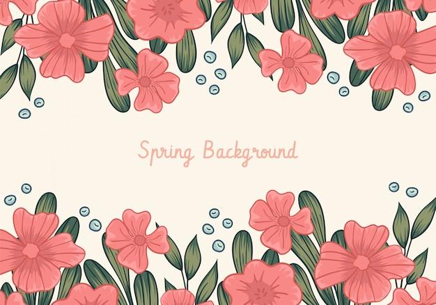 Fundo de quadro floral primavera