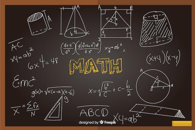 Fundo de quadro realista de matemática