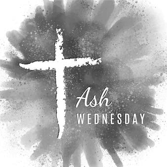 Fundo de quarta-feira de cinzas com cruz