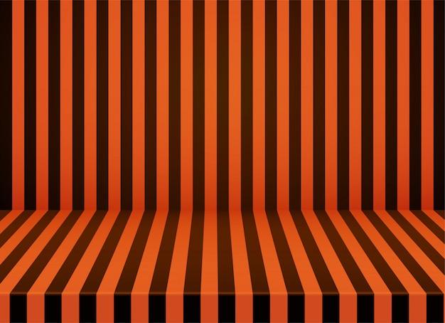 Fundo de quarto listrado laranja-preto de halloween.