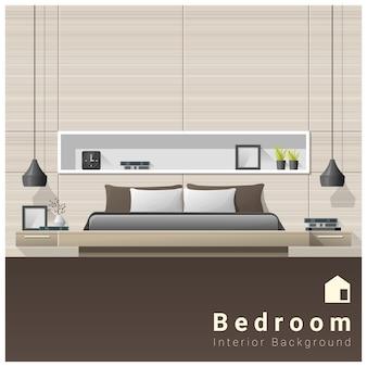 Fundo de quarto moderno design de interiores
