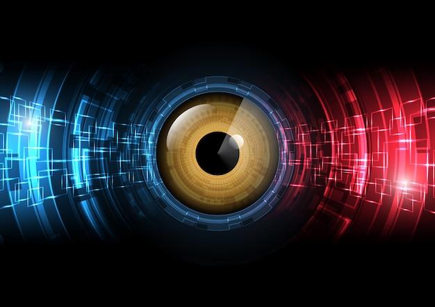Fundo de radar de círculo de olho futuro abstrato de tecnologia