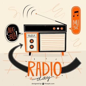 Fundo de rádio geometric