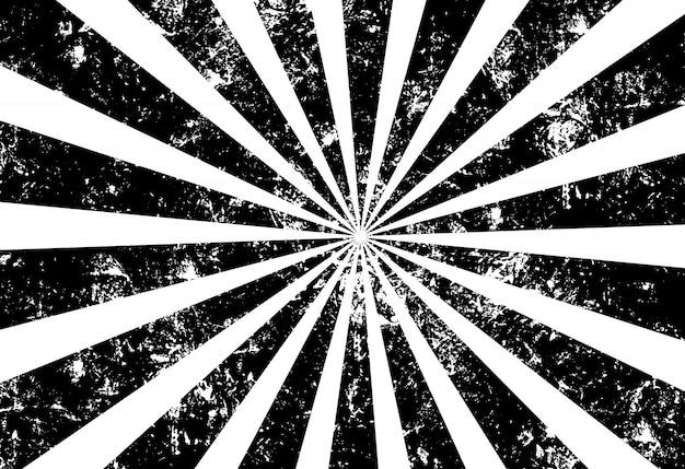 Fundo de raio de sol do grunge preto e branco