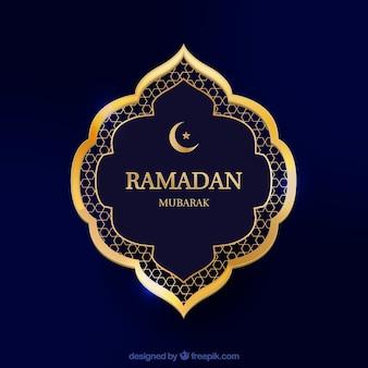 Fundo de ramadã com moldura em estilo realista