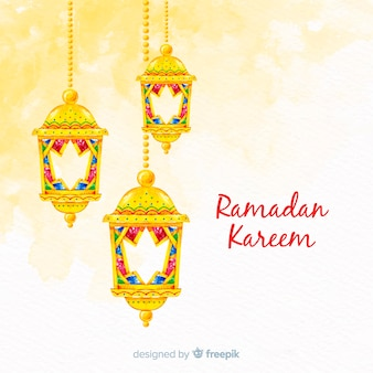 Fundo de ramadan aquarela