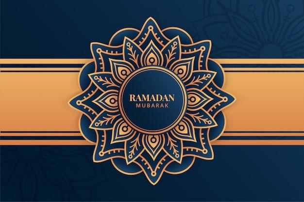 Fundo de ramadan kareem de luxo