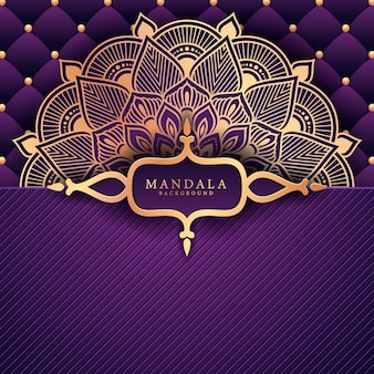 Fundo de ramadan kareem mandala de luxo cartão