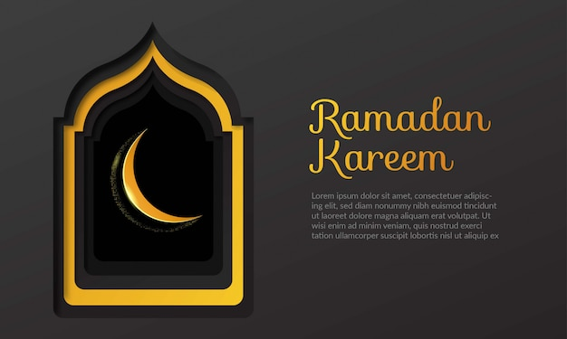 Fundo de ramadan kareem para comemorar o ramadã
