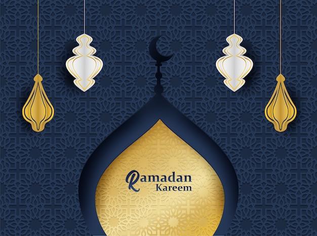 Fundo de ramadan kareem.