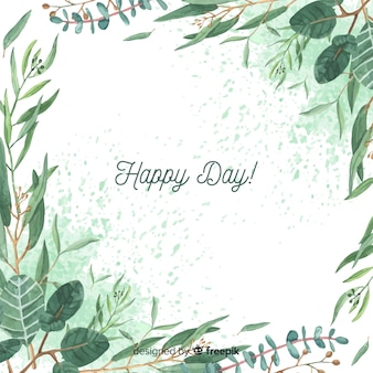 Fundo de ramos de eucalipto de mão desenhada