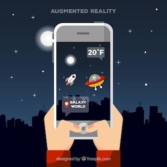 Fundo de realidade aumentada em estilo simples