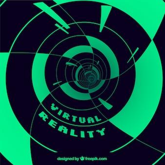 Fundo de realidade virtual com formas abstratas