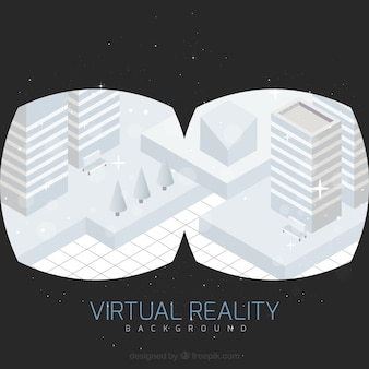 Fundo de realidade virtual da cidade geométrica