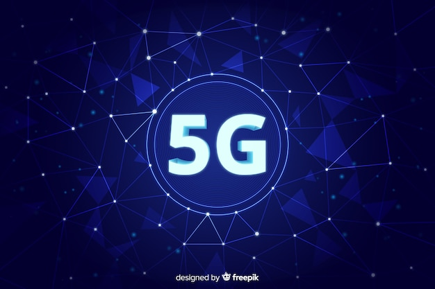 Fundo de rede celular de quinta geração