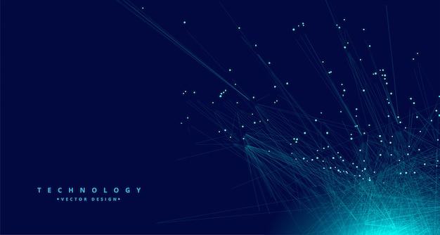 Fundo de rede de malha de dados digitais de tecnologia