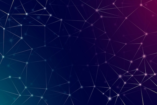 Fundo de rede gradiente com pontos