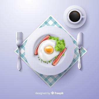 Fundo de refeição realista