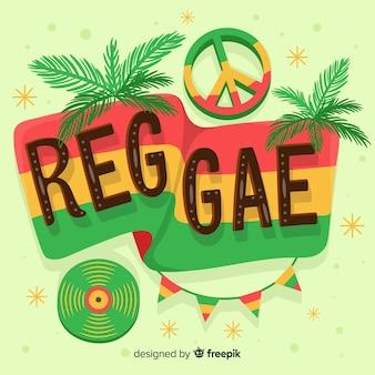 Fundo de reggae de elementos