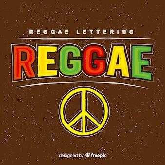 Fundo de reggae de símbolo de paz
