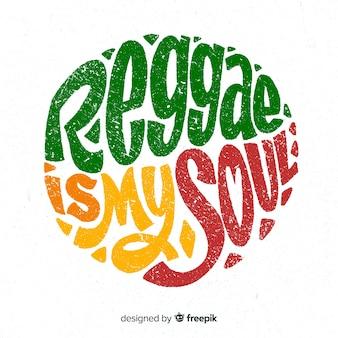 Fundo de reggae de texto dentro de um círculo
